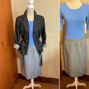 CALVIN KLEIN linen blend tweed pencil skirt Sz 10